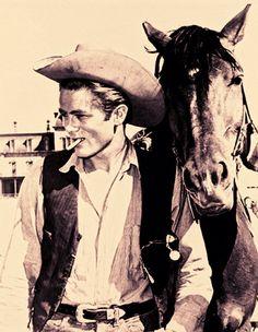 "James Dean - filming ""Giant"""