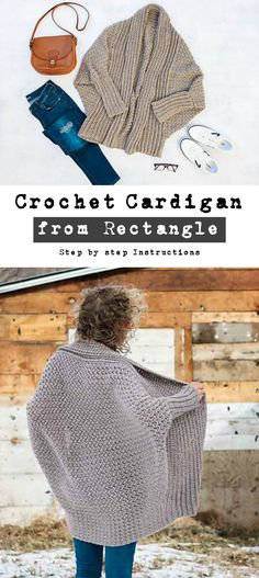 Crochet Cardigan From Rectangle