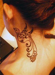 956ddff54 Bird Neck Tattoo, Love this♡ Tatoo, Flor Tattoo, Tattoo Henna, Tattoo