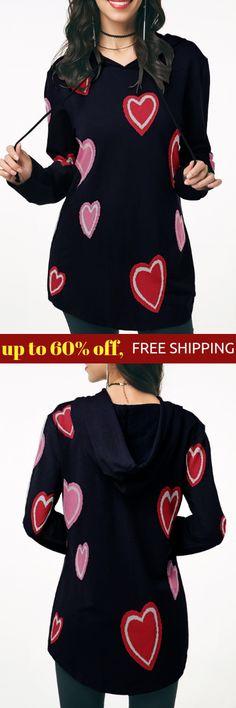 Shop Outerwear For Women Online Heart Print, Hoodies, Sweatshirts, Winter Outfits, Autumn Fashion, Coat, Long Sleeve, Casual, Jackets