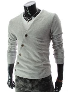 Grey TheLees mens cardigan.  $21.80