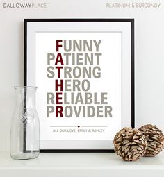 Fathers Day Gift For Dad Gift For Him  father by DallowayPlace, $19.00