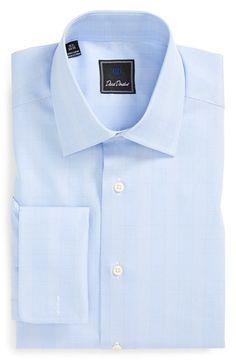 Men's David Donahue Regular Fit Check Dress Shirt