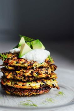 Wholehearted Eats : Zucchini Dill Fritters with Cashew Aioli