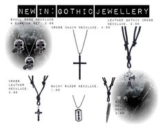 """""""New In: Gothic Jewellery"""" by bluebanana ❤ liked on Polyvore featuring women's clothing, women's fashion, women, female, woman, misses and juniors"""