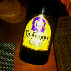 La Trappe - Quadrupel Trappist Ale Another strong one with 10% alcohol, a true belgian trappist ale, dark amer, spices, honey and caramel, fall leaves and moist ground. Great one!