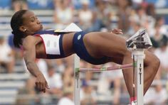 Jackie Joyner-Kersee, a three-time Olympic gold medalist in track and field.