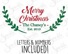 Laurel Christmas Cut File Personalize SVG Christmas SVG Holiday Sign  Clipart Svg Dxf Eps Png Silhouette Cricut Cut File Commercial Use by SparkleGraphics16 on Etsy https://www.etsy.com/listing/493370421/laurel-christmas-cut-file-personalize