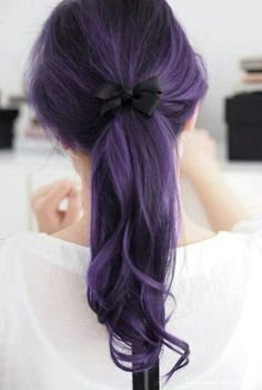 Stuff to Try on Pinterest | Indigo Hair, Purple Hair and Dip Dyed