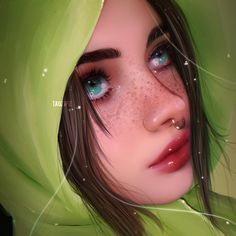 List of 8 best Funny Art Girl in week 28 Digital Art Girl, Digital Portrait, Portrait Art, Portraits, Funny Drawings, Realistic Drawings, Art Drawings, Dibujos Tumblr A Color, Beauty Art