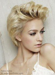 Feminine short hairstyle with volume http://www.hairfinder.com/hairstyles9/skin-touch3.htm