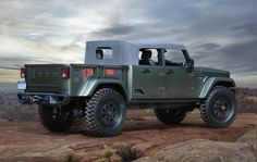 ...it's a Wrangler Unlimited-based pickup with a soft-top inspired by past Jeep military vehicles...