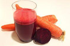 "New Beginnings Juice4 large carrots 2 medium beets (beetroots) 2 medium red bell peppers (capsicum) Piece of gingerroot, 1""/2.5 cm."
