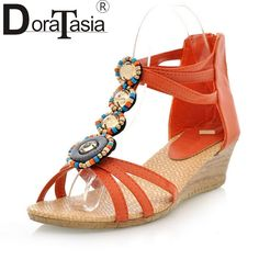 11.99$  Buy here - fashion bohemia style vintage women shoes summer sandals open toe wedges 2017 hot sale new arrivals beach shoes woman  #aliexpress