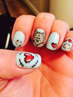 Tatty teddy nail art