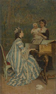 Gerolamo Induno Gerolamo Induno (1825-1890)  ~ Baby's Delight (1875)