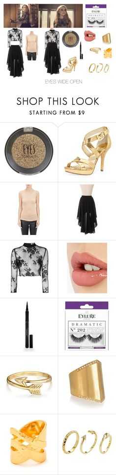 """Sabrina carpenter"" by mvang21 ❤ liked on Polyvore featuring Topshop, MICHAEL Michael Kors, Ann Demeulemeester, Chicwish, Glamorous, Charlotte Tilbury, Elizabeth Arden, eylure, Bling Jewelry and Ileana Makri"