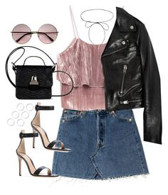 """""""Sin título #1243"""" by osnapitzvic ❤ liked on Polyvore featuring Lilou, Yves Saint Laurent and MM6 Maison Margiela"""