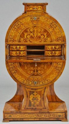 Biedermeier Inlaid Walnut Secretary, late Century at Antique Furniture For Sale, Antique Desk, Old Furniture, Furniture Styles, Furniture Makeover, Vintage Furniture, Furniture Design, Furniture Storage, Industrial Furniture