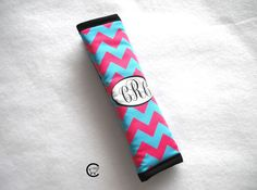 Monogram Personalized Seat Belt Cover  by Comfy Accessories on Etsy