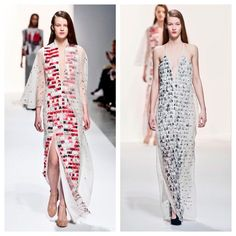 Nails are the new sequins Le Dress-à-Ongles selon Hussein Chalayan #PFW #AW14
