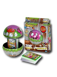 Top Trumps - Trash Pack Tin It's the Top Trumps pack you've 'bin' waiting for! Every kids favourite revolting rubbish gang, the Trash Pack are no longer just collectible character figures. These Trashies all have their own cruddy qualities to be compared and traded in this pack. http://shop.winningmoves.co.uk/products/top-trumps-collector-tins/5036905020428-top-trumps-trash-pack-tin.html