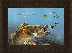 Spin Zone By Todd Thunstedt 17.5x23.5 Bait Lake Bass Largemouth Smallmouth Walleye Fish Fishing Bass Musky Muskellunge Boat Minnow Motor Depth Finder Framed Art Print Wall Décor Picture ThunderMark Art and Graphics http://www.amazon.com/dp/B01DMS1PZK/ref=cm_sw_r_pi_dp_iJj.wb0QCXN7G