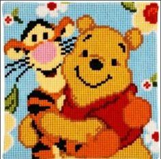 Disney Winnie the Pooh cross stitch.