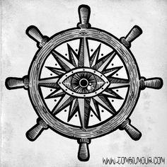 Ship Wheel Tattoo Page