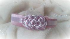 headband - pink/white