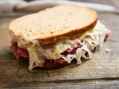 Classic Reuben Sandwich (Corned Beef on Rye With Sauerkraut and Swiss) Recipe