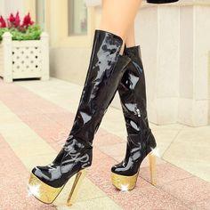642a408575a1 Shoespie Shine High Heel Thigh High Boots