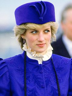Hat's blue and black - HRH Diana Princess of Wales - via http://bit.ly/epinner