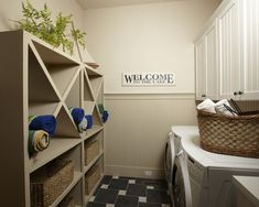 Lake Home :: view 2 of 2 :: laundry space with adjacent mudroom via opposite view...