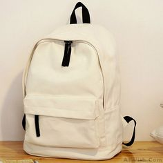 Fresh Pure Color Solid Rucksack School Bag For Girl Canvas Backpacks 41a6e1766bc23