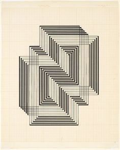Study for Graphic Tectonic, c 1941-42. Photograph: Josef and Anni Albers Foundation/Artists Rights Society/Dacs