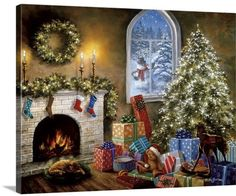 The Holiday Aisle 'Creature Was Stirring' Painting Print on Wrapped Canvas