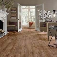 Mannington Revolution Wide Plank x x Oak Laminate Flooring Color: Steam Wood Tile Floors, Engineered Hardwood Flooring, Grey Flooring, Rustic Wood Floors, Wide Plank Flooring, Light Grey Wood Floors, Painted Floors, Concrete Floors In House, Ideas