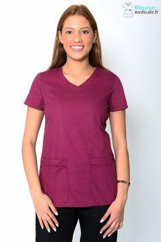 7fb60f63e79f9 Tunique Medicale Dickies Femme Bordeaux 85906. Blouse médicale Dickies  couleur ...