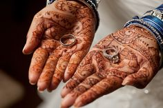 Wedding ring photos - henna