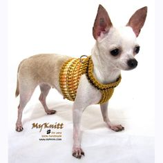 Gifts Dog Harness Vest Crochet Clothing Pets ...
