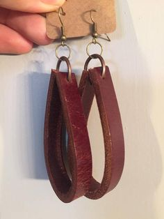 Leather Hoop Earrings Fixer Upper Joanna Gaines Inspired
