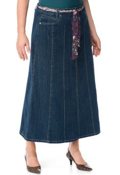 Denim skirt A teacher at PVP has one like this. I love denim skirts & admired it every time I saw her in it! Wonder if I could make one....?