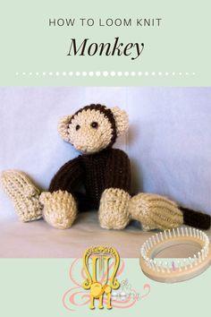 Round Loom Knitting, Loom Knitting Stitches, Loom Knitting Projects, Yarn Projects, Knifty Knitter, Loom Animals, Knit Animals, Loom Scarf, Knitted Stuffed Animals