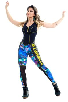 Night City -fitness  jumpsuit digital print
