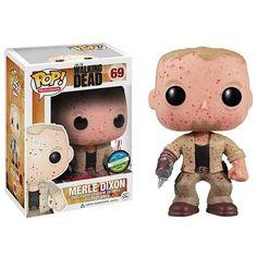 The Walking Dead Pop! Vinyl Figure Blood Splattered Merle Dixon [Convention Exclusive] - Funko Pop! Vinyl - Category