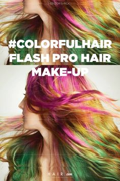 Remember when hair chalk was singlehandedly the best product any upcoming teenager could have? L'Oreal Professionals created temporary hair color that not only satisfies our childhood dreams, but also looks super sophisticated and wearable no matter how old you are. Read on to see what is #Colorhair flash and why you need to get it. Temporary Hair Color, Hair Chalk, Hair Looks, Hair Makeup, Childhood, Hair Beauty, Make Up, Dreams, Infancy