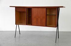 Mid Century Modern Teak and Formica Bar - Made in Germany_Gallery