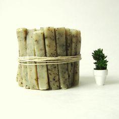 Travel Soap Sticks by prunellasoap :: peppermint poppyseed handmade vegan soap
