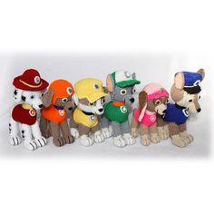 Six Pups Crochet Pattern, Paw Patrol inspired , crochet puppy pattern, Best Gift,Paw Patrol Pups, Chase, Marshall, Rocky, Zuma, Rubble, Skye